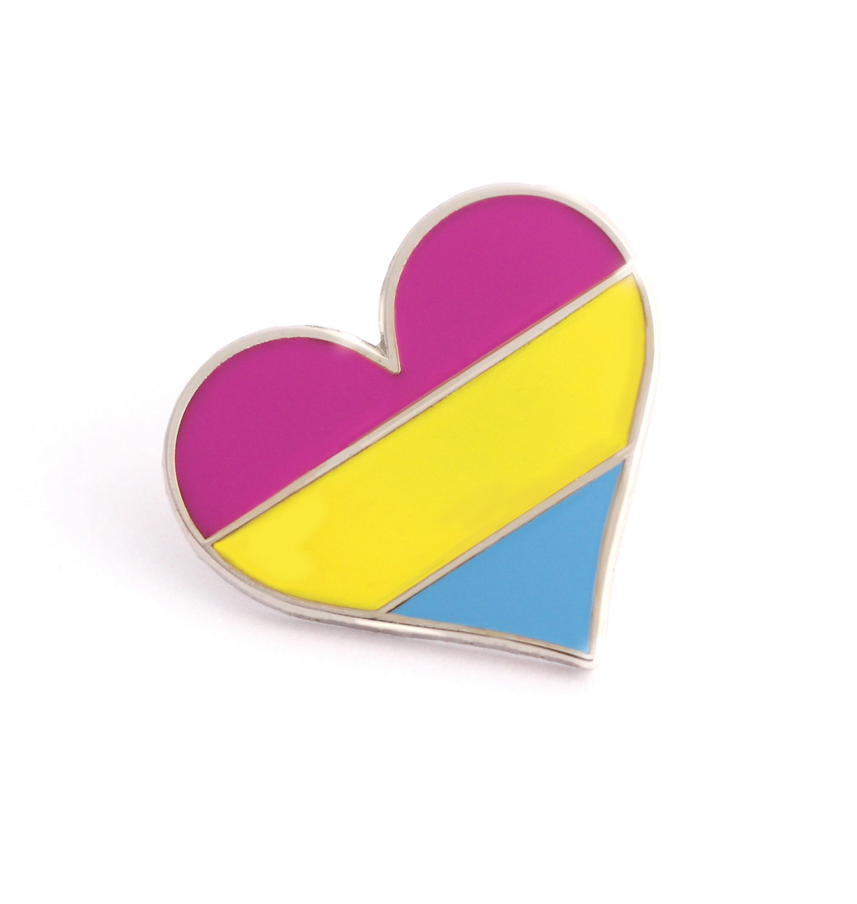Compoco Pansexual Flag Heart Pin