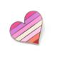 Compoco Lesbian Flag Heart Enamel Pin