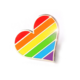 Compoco Gay Flag Heart Enamel Pin