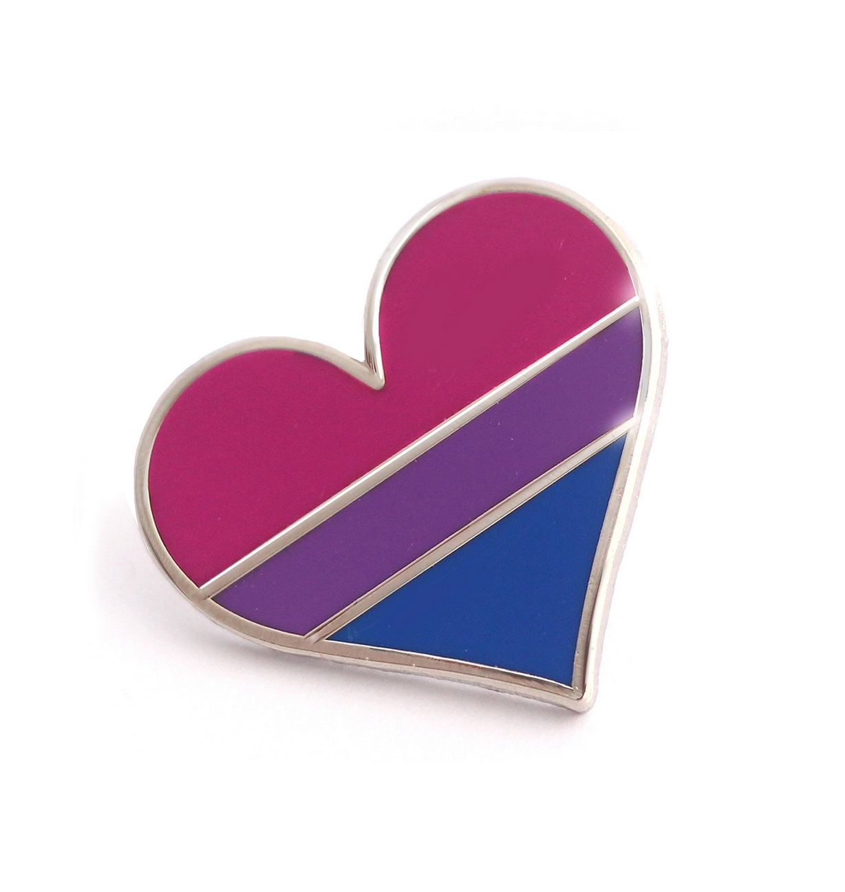Compoco Bisexual Flag Heart Pin