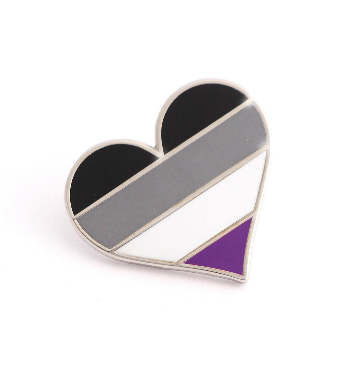 Compoco Asexual Flag Heart Pin