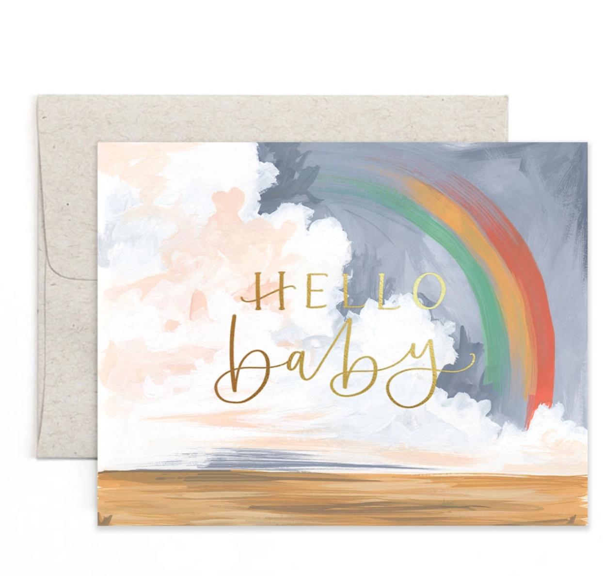 1canoe2 Hello Baby Rainbow Greeting Card
