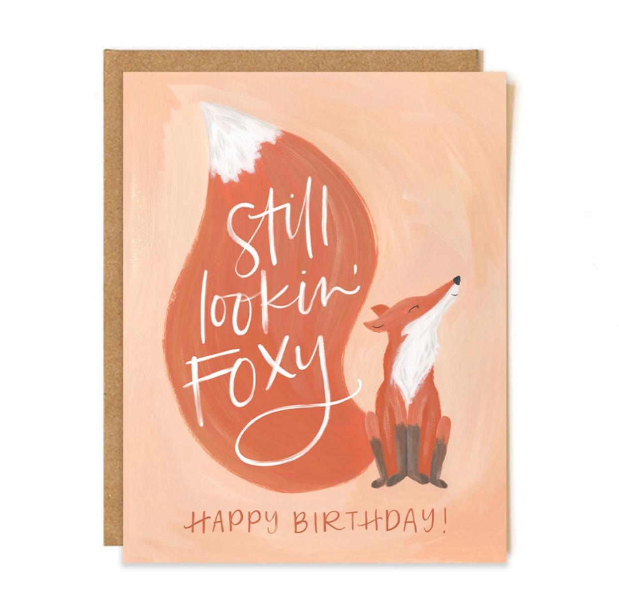 1canoe2 Foxy Birthday Greeting Card