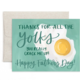 1canoe2 Father's Day Yolks