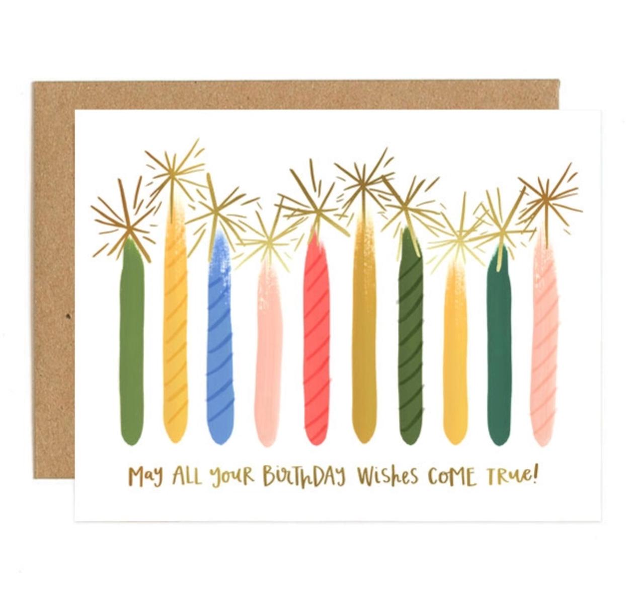 1canoe2 Candle Birthday Greeting Card