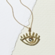 Cameoko The Crystal Eye Necklace-abalone + gold leaf