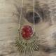 Cameoko Moonphase Necklace-malachite + red flake