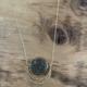 Cameoko Moonphase Necklace-pyrite + gold flake
