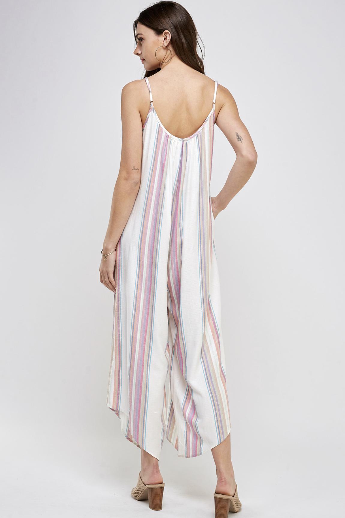 En Creme Multi Stripe Jumper - White Multi