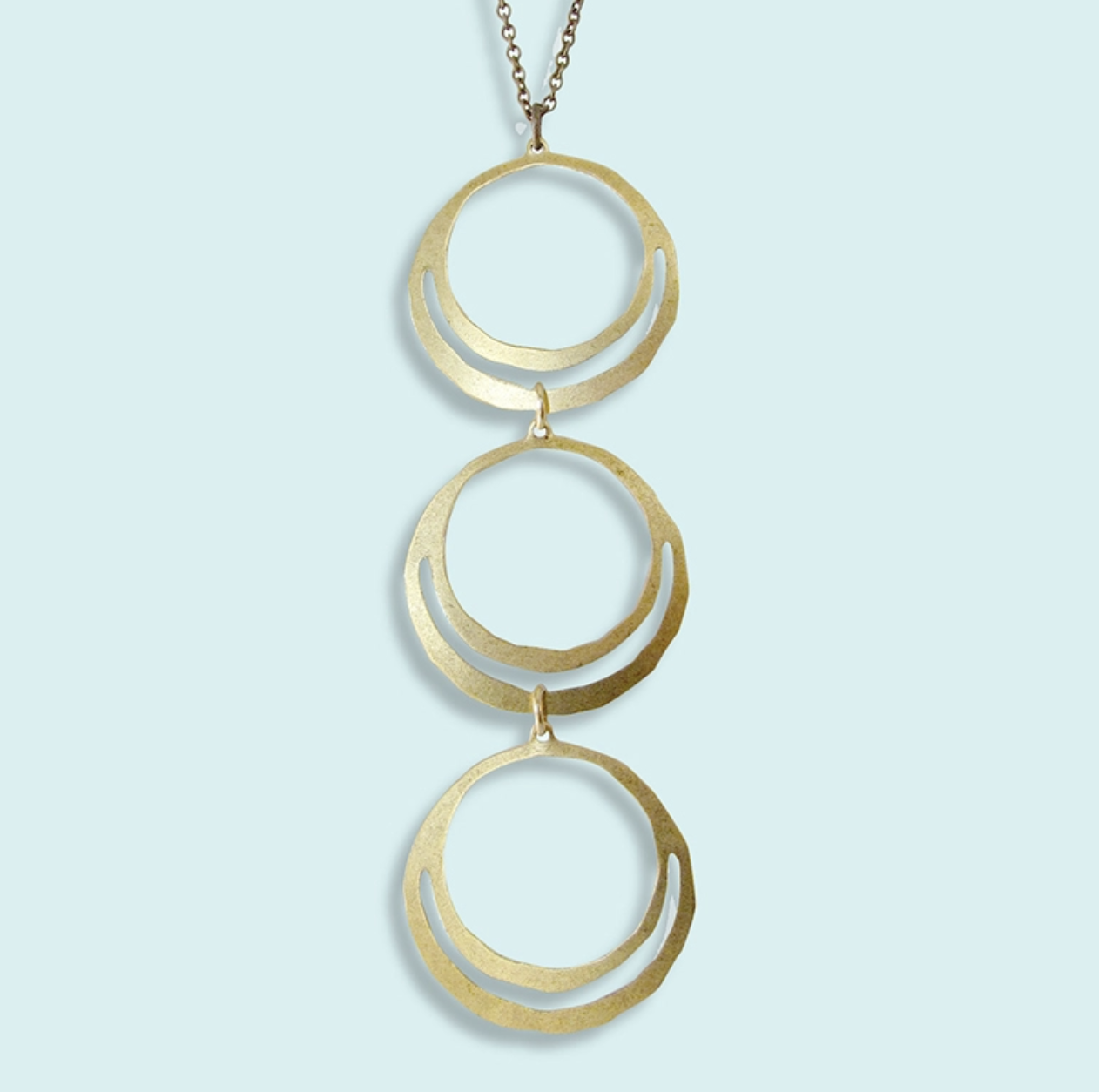 Ornamental Things 3 Brass Rings Necklace