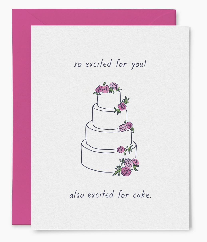 Little Goat Wedding Cake Card