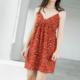 THML Leopard Print Surplice Neck Dress