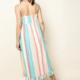 THML Multicolor Striped Midi Dress