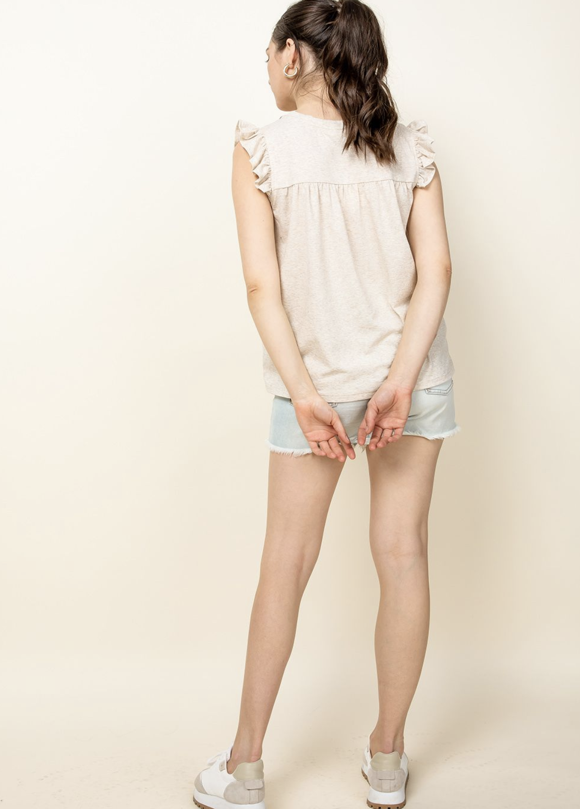 THML Embroidered Knit Top