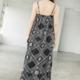 THML Embroidered Bandana Print Midi Dress