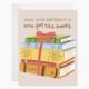 Bloomwolf Studio Birthday Books Greeting Card