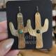 Metrix Jewelry Cutie Cacti Earrings-Malachite