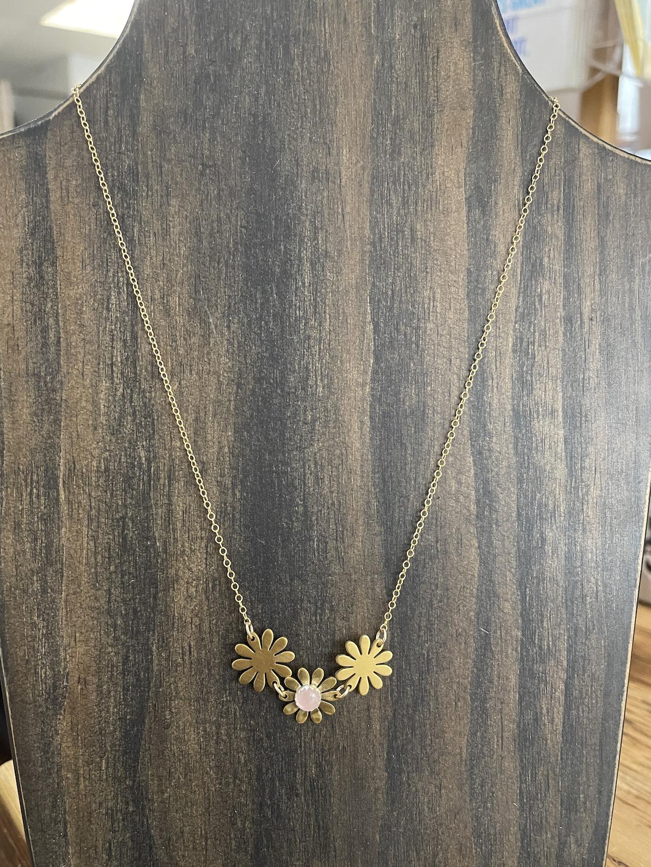 Metrix Jewelry Brigitte Necklace- Rose Quartz