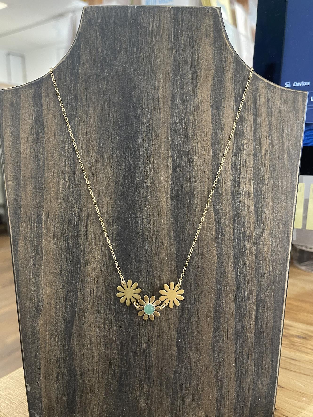 Metrix Jewelry Brigitte Necklace- Green Aventurine