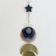Metrix Jewelry Star/Quartz/Full Gemstone Brass Wall Hanging-Agate
