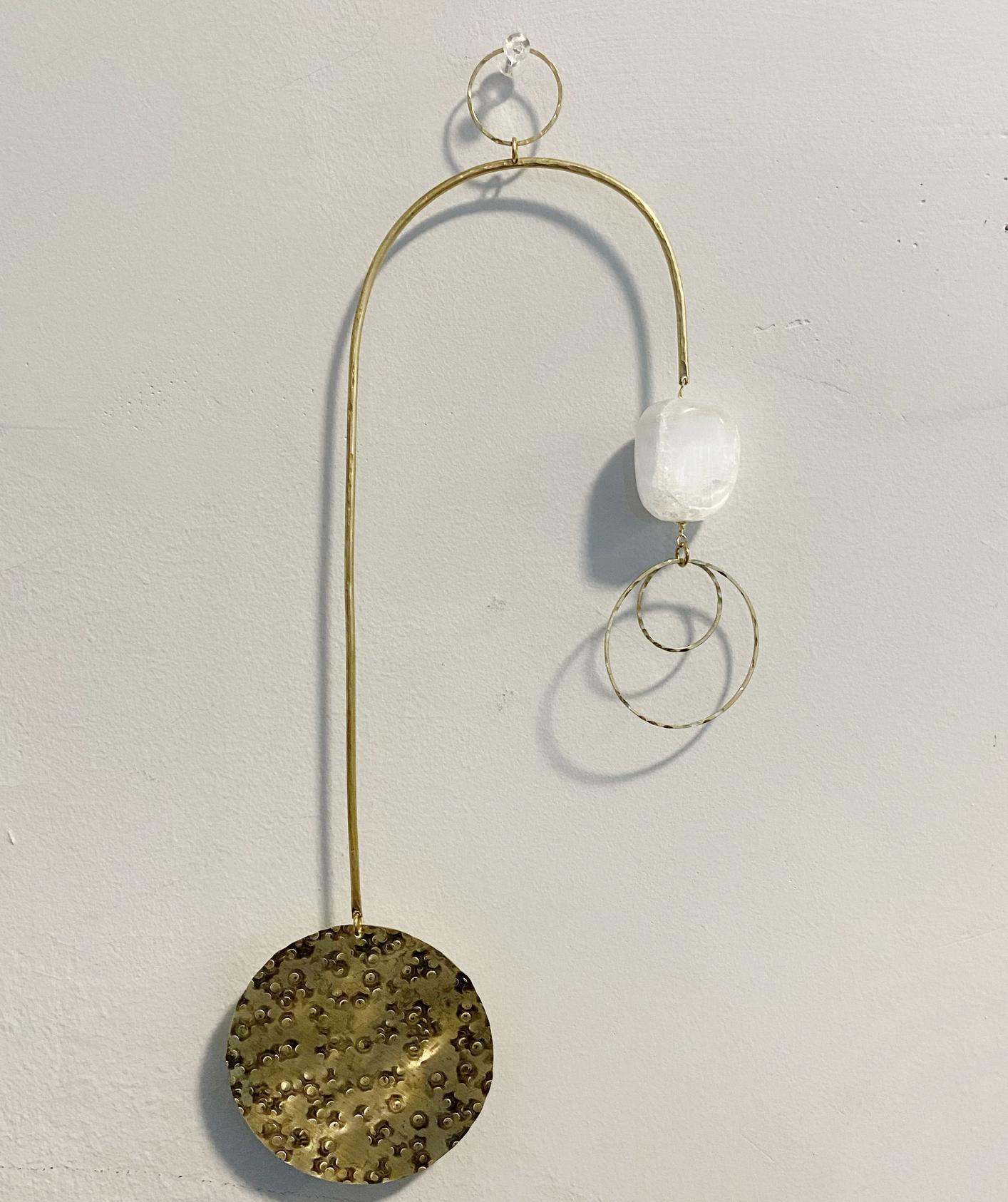 Metrix Jewelry Curved Selenite Mobile