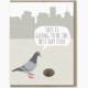 Modern Printed Matter Pigeon Donut Birthday Card