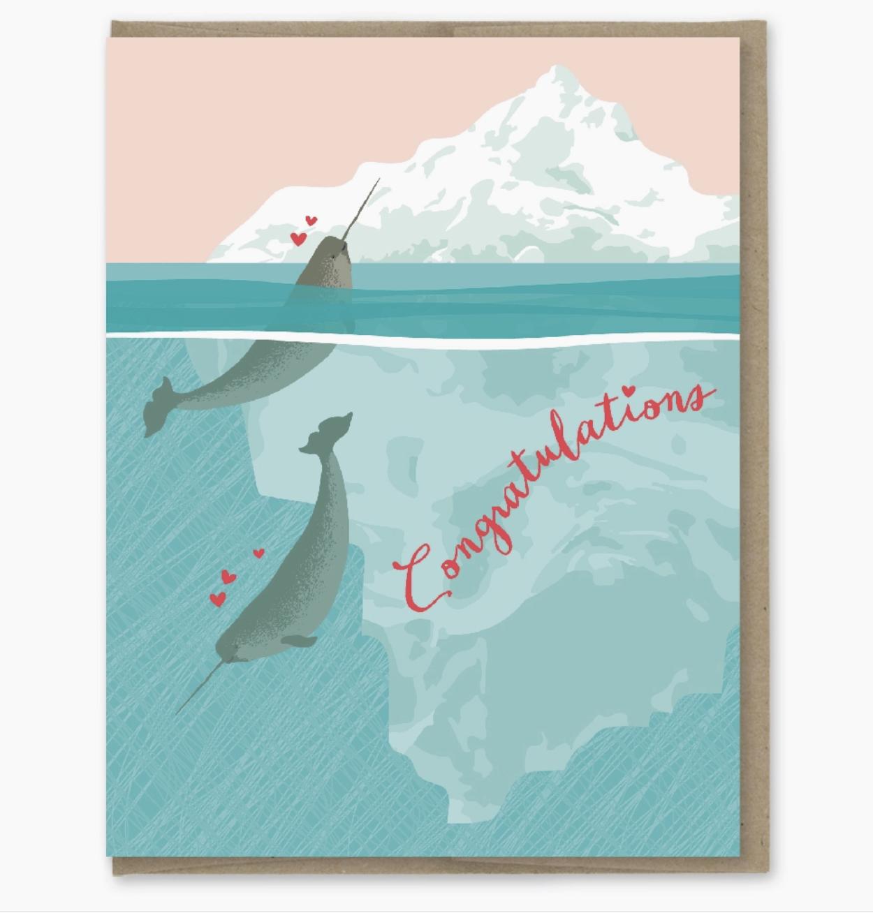 Modern Printed Matter Narwhals Freaks Card
