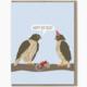 Modern Printed Matter Hawks Birthday Card