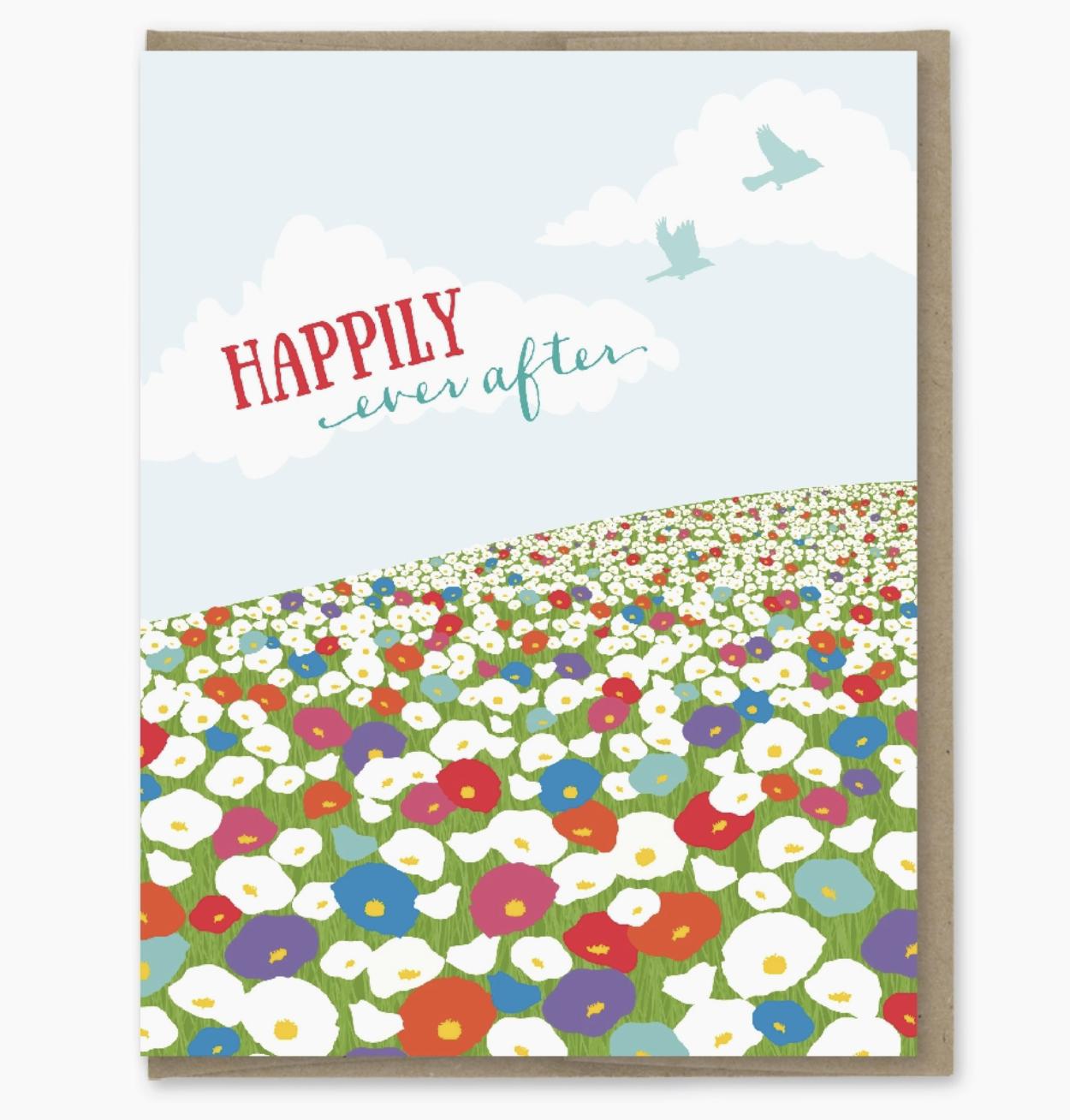 Modern Printed Matter Ever After Wildflower Field Card