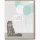 Modern Printed Matter Cat Hairball Birthday card
