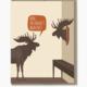 Modern Printed Matter Aged Moose Trophy Birthday Card