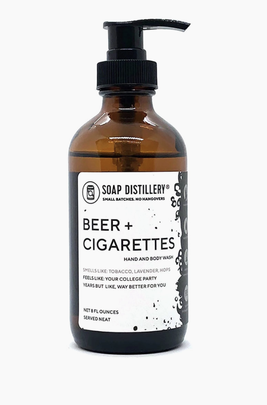 Soap Distillery Beer + Cigarettes Hand and Body Wash
