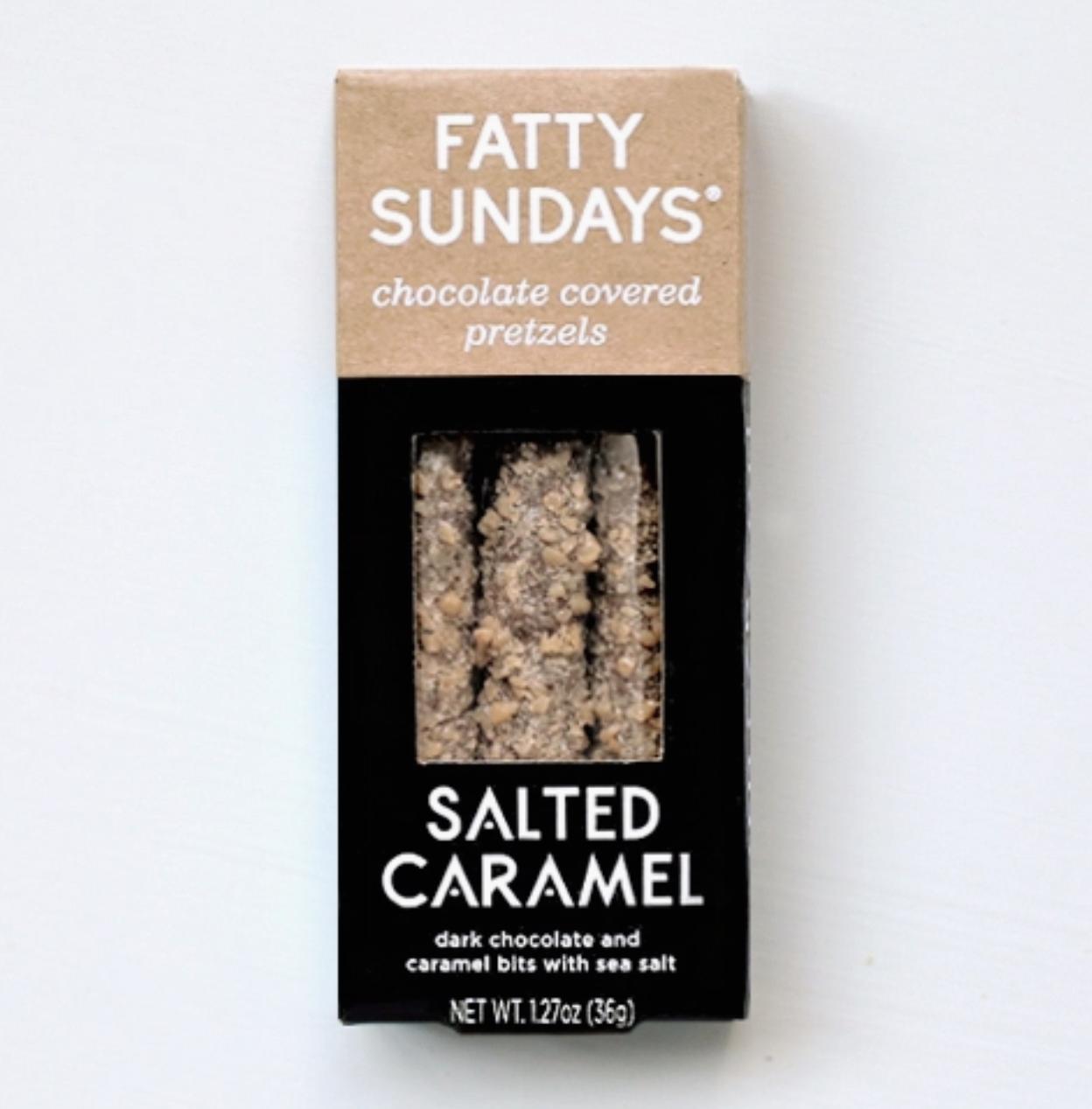 Fatty Sundays Salted Caramel Chocolate Covered Pretzels