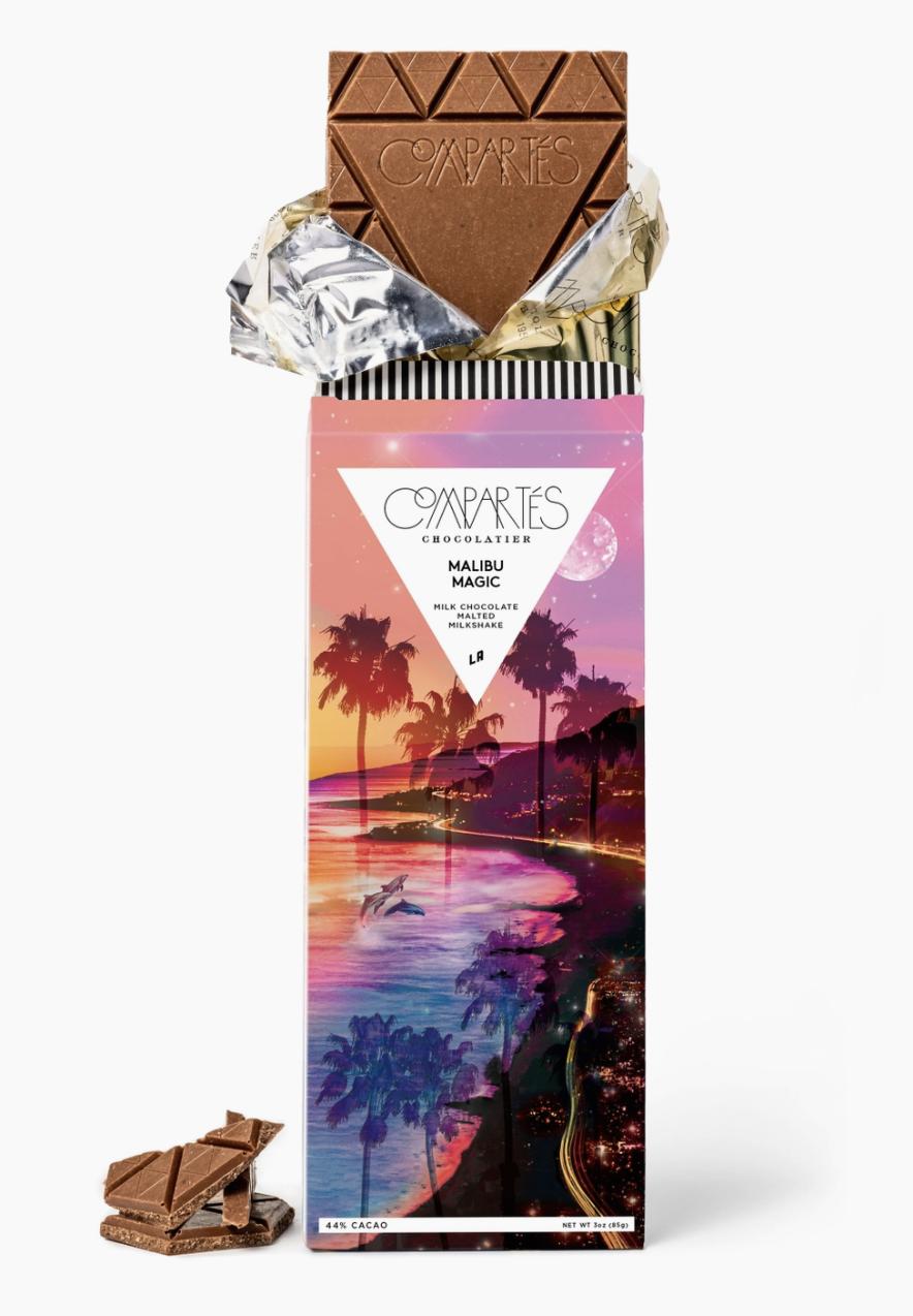 Compartes Chocolate Malibu Magic Chocolate Bar - Malted Milkshake