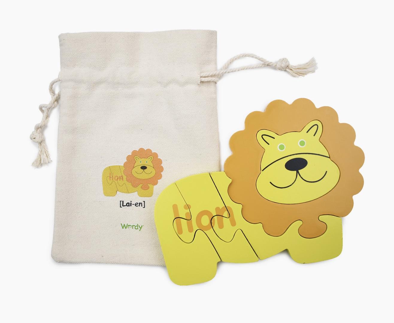 Wordy Wordy Lion   English/French