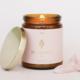 JaxKelly Amber Crystal Candle - Rose Quartz