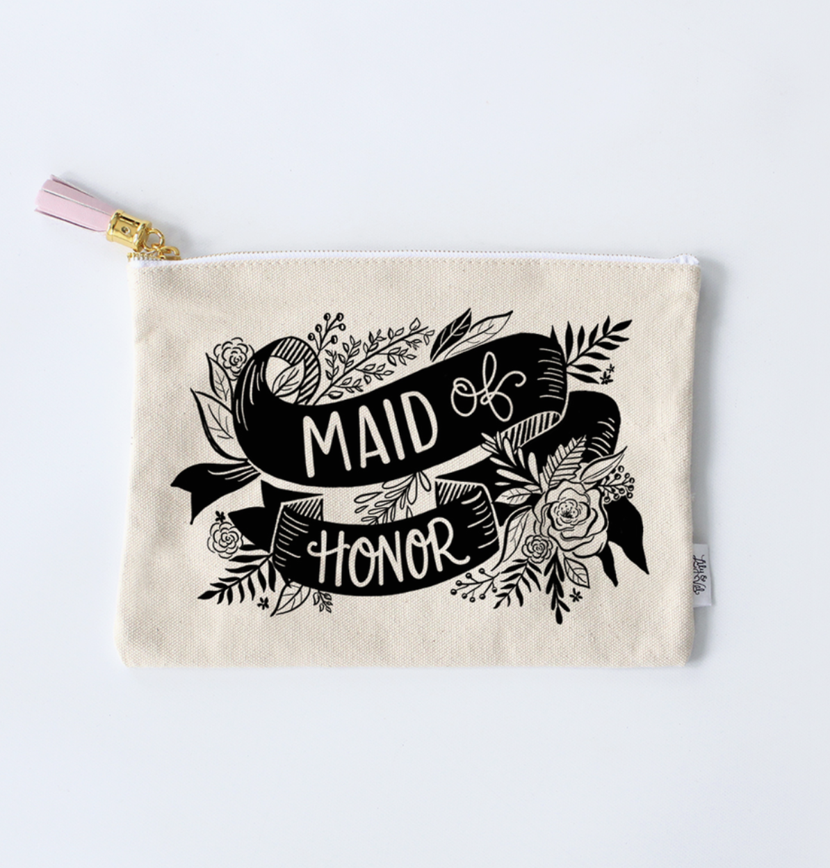 Lily & Val Maid Of Honor Zippered Pouch