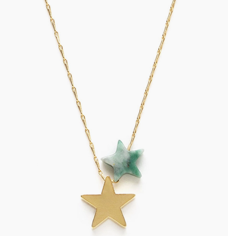 Amano Studio Star Power Necklace  Green Jasper