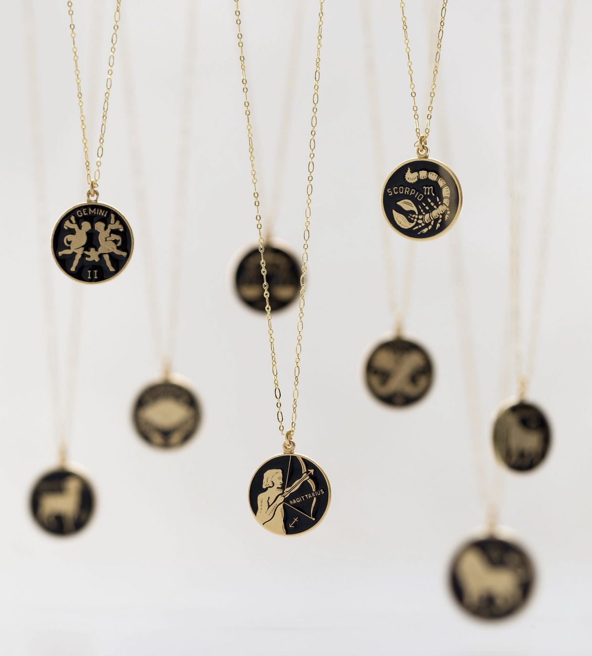 Amano Studio Black Enamel Zodiac Necklace