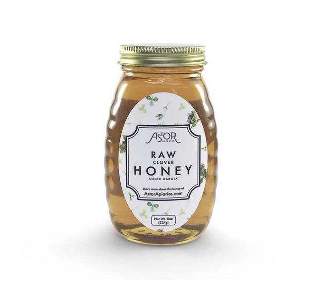 Astor Apiaries Clover Raw Honey 8oz
