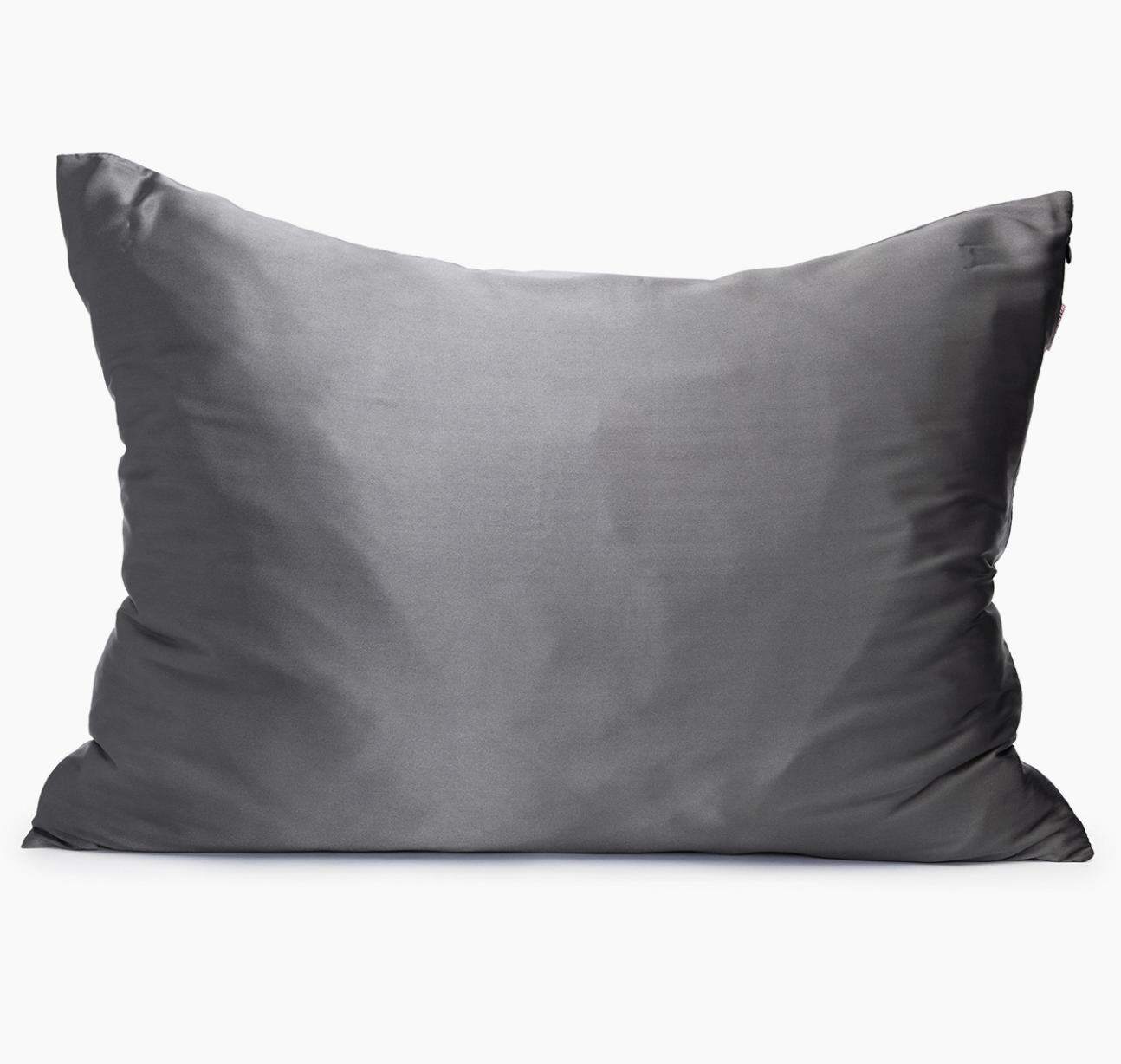 Kitsch Satin Pillowcase - Charcoal