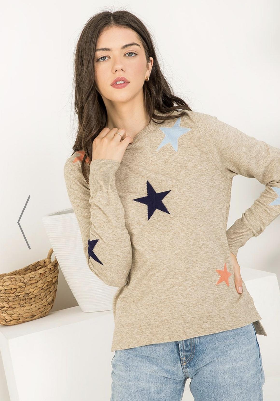 THML Seeing Stars Sweater-Beige
