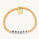 Little Words Project Badass-Solid Gold Fill-White