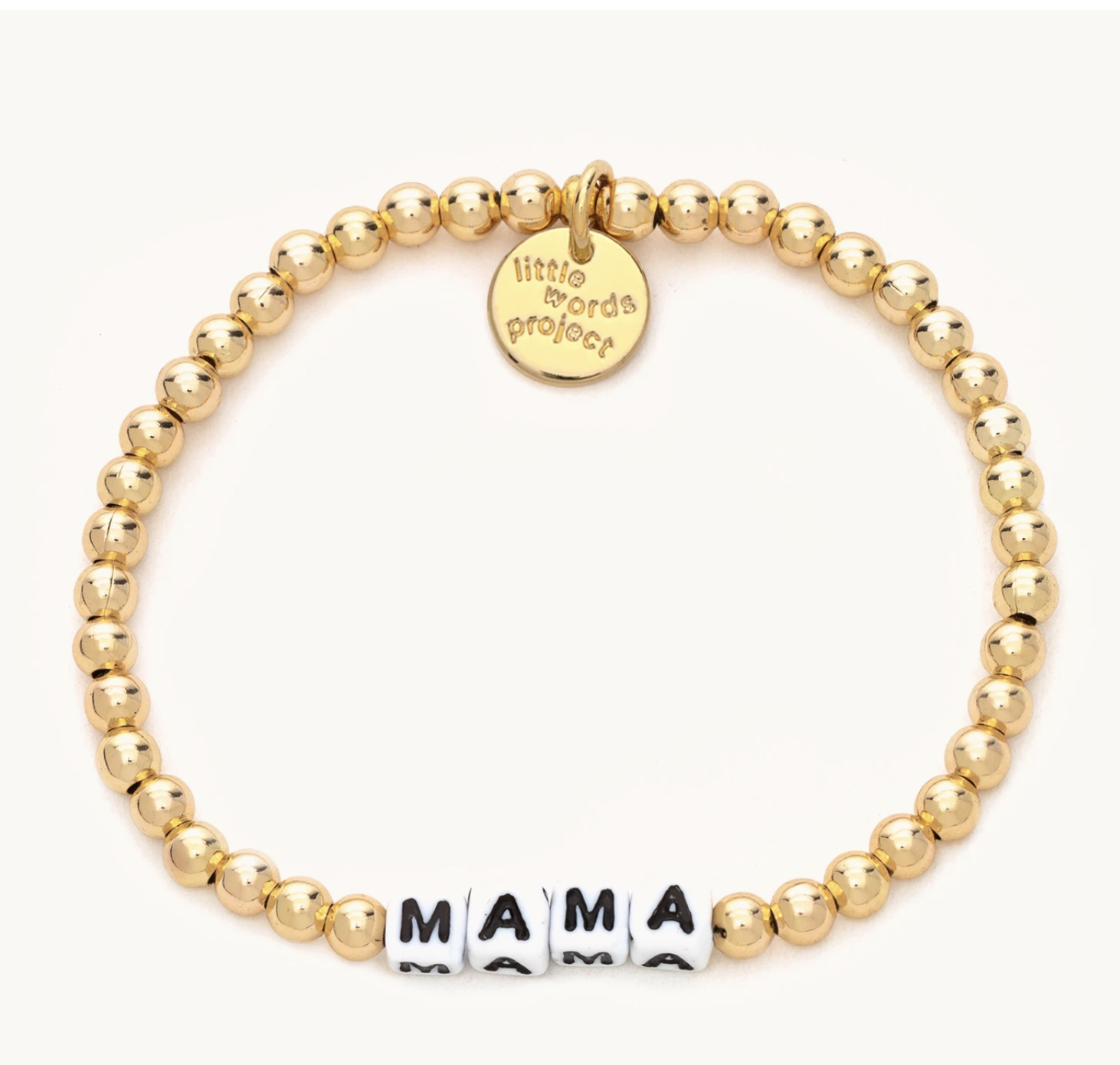 Little Words Project Mama-Solid Gold Fill-White
