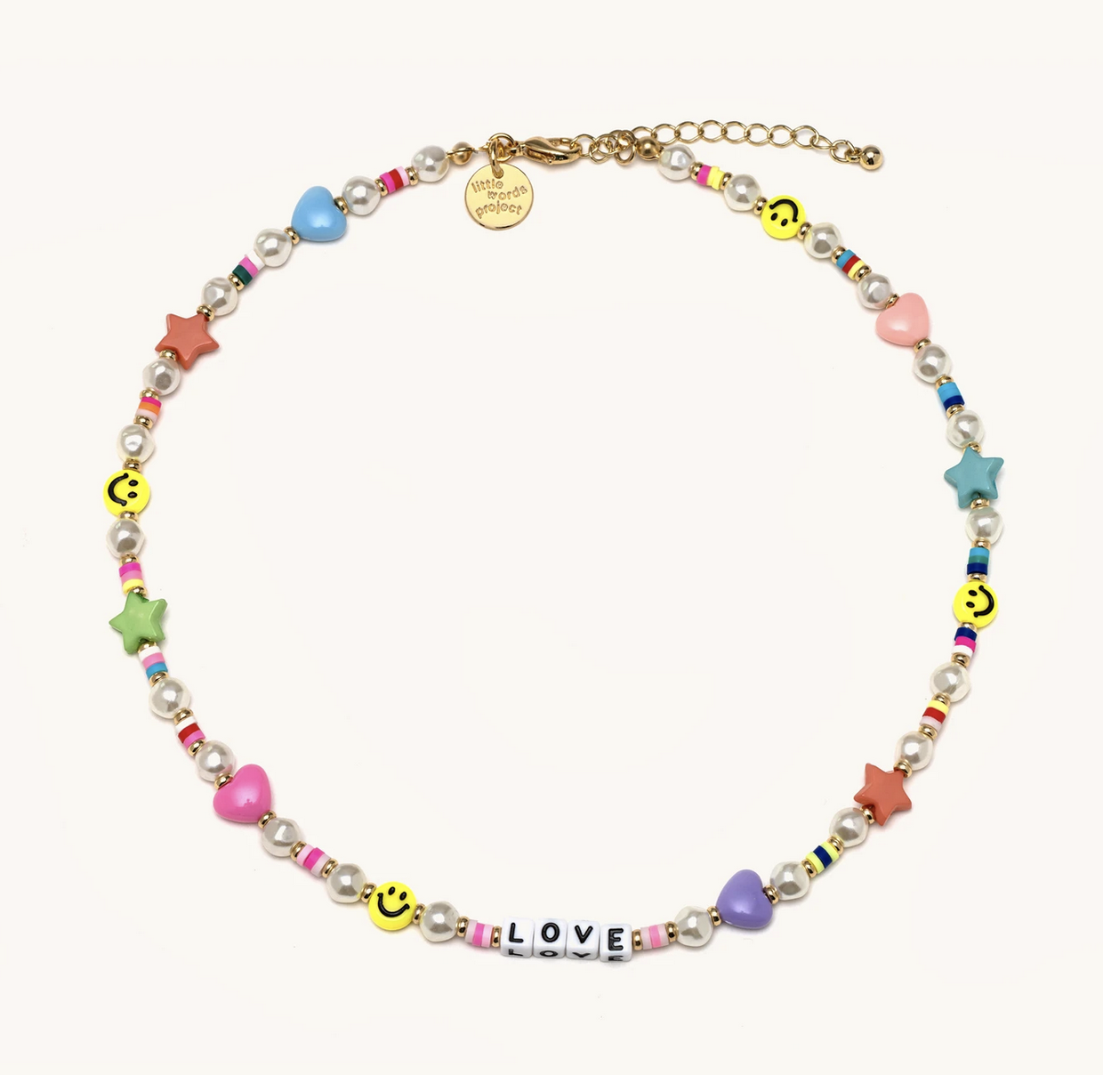 Little Words Project Pearl Necklace-Love-White