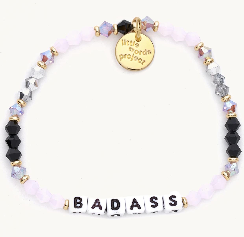 Little Words Project Badass-Pink Galaxy-White