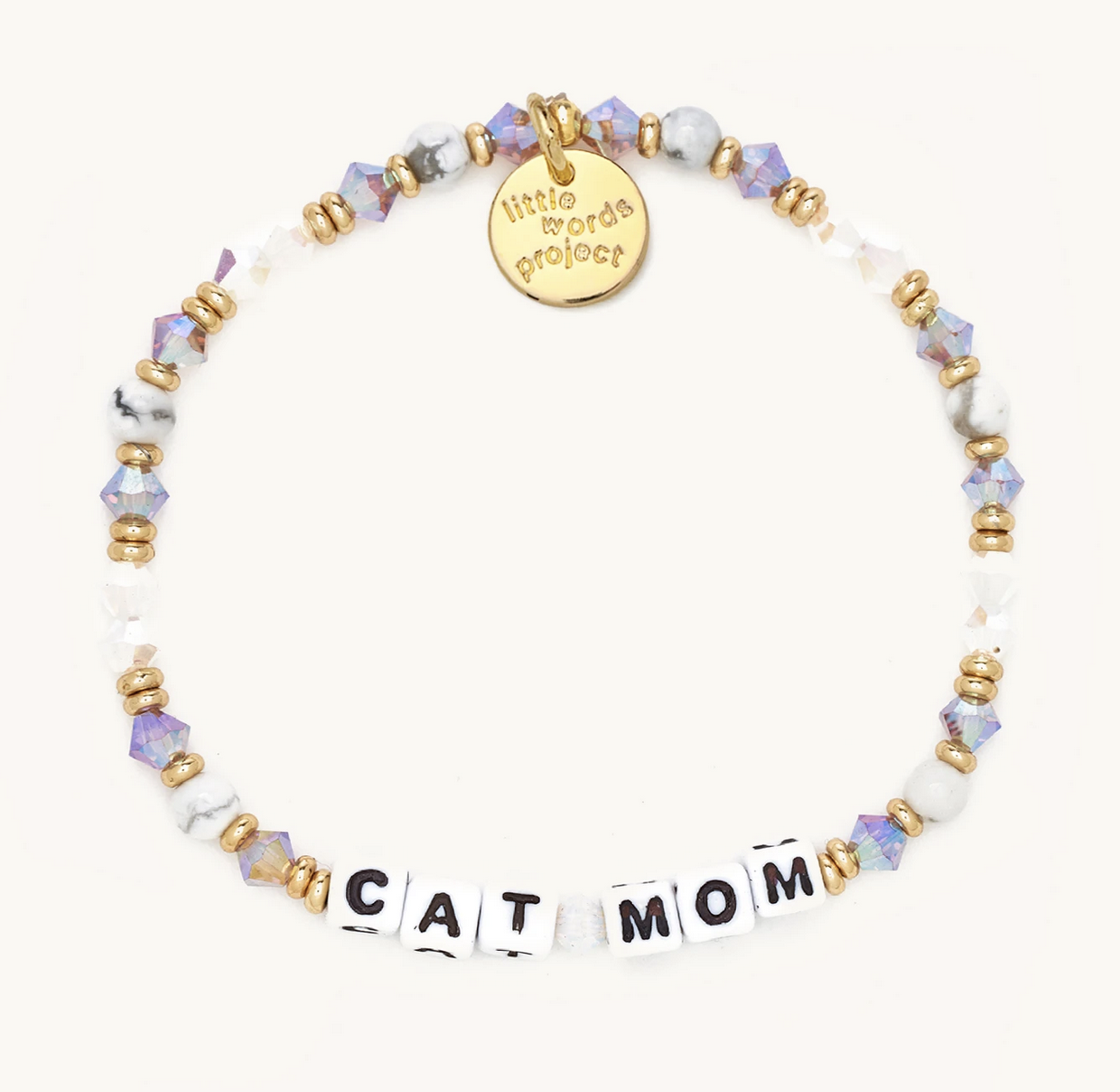 Little Words Project Cat Mom-Pastry-White
