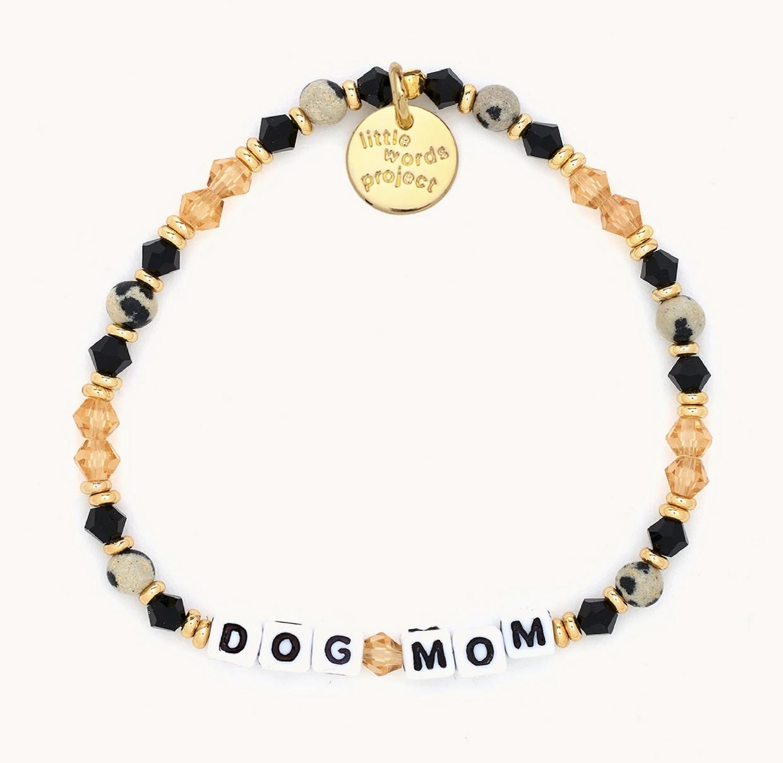Little Words Project Dog Mom-Paris-White