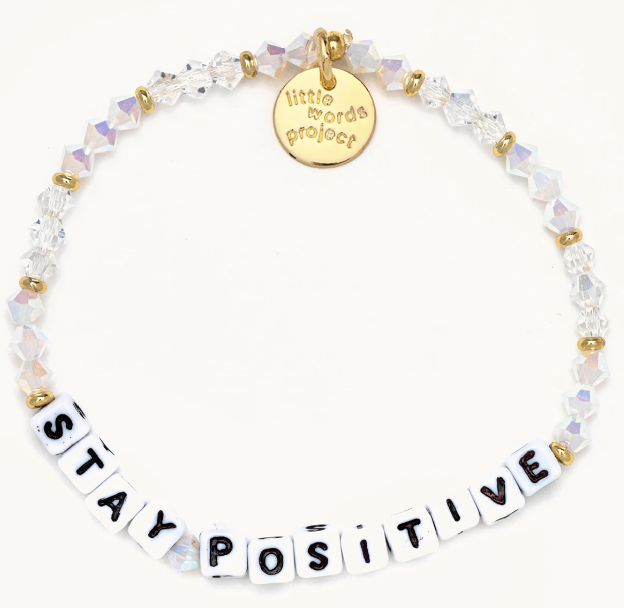 Little Words Project Stay Positive-Icy-White