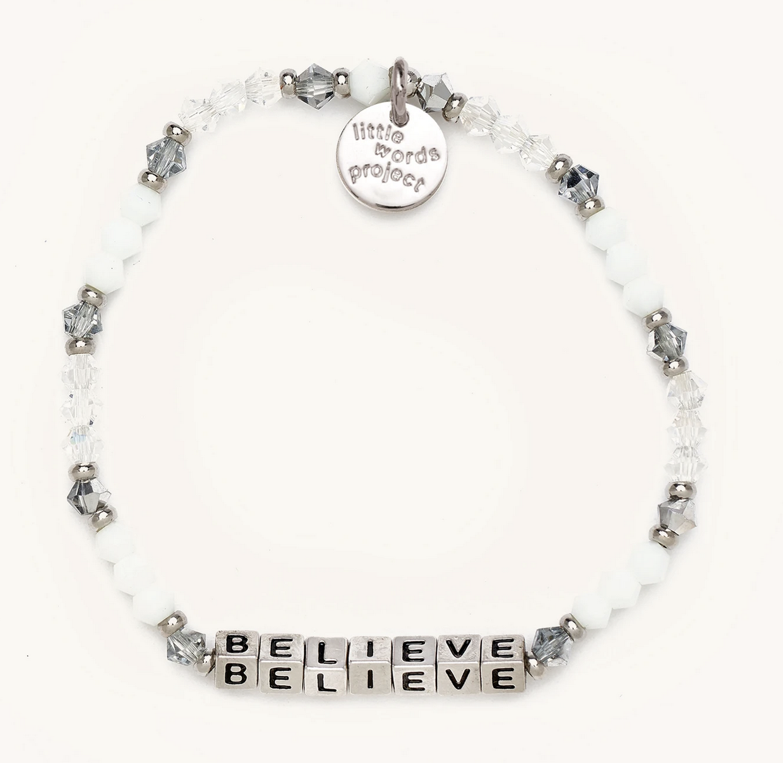 Little Words Project Believe-Empire-Silver